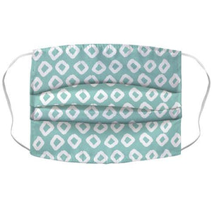 Abstract Diamond Biscay Green Boho Pattern Face Mask Cover - Dank Riot