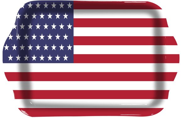 American Flag Rolling Tray - Dank Riot