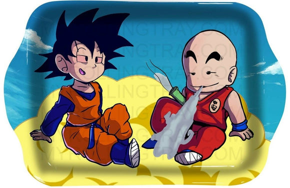 Goten and Krillin Rolling Tray - Dank Riot
