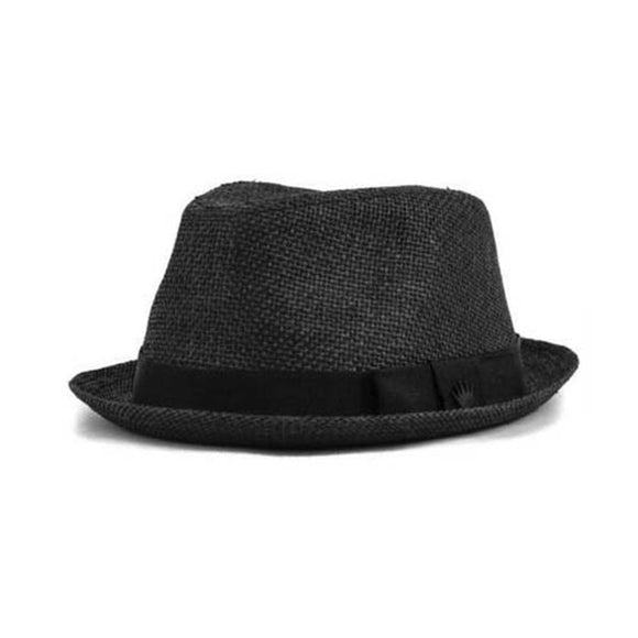 No Bad Ideas - Fedora - Piers (Black/Straw-Palm) - Dank Riot