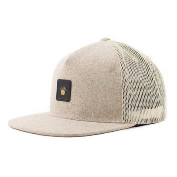 No Bad Ideas - Snapback Cap - Cairo Leather Patch (Tan) [April] - Dank Riot