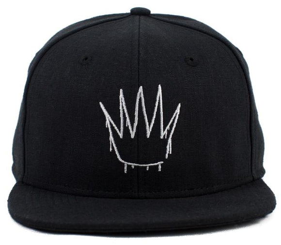 No Bad Ideas - Snapback Cap - Crown - Black Hemp - Dank Riot