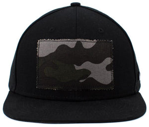 No Bad Ideas - Snapback Cap - Duke Camo Patch (Black/Camo) - Dank Riot