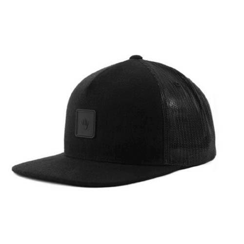 No Bad Ideas - Snapback Cap - Omri Leather Patch (Black) - Dank Riot