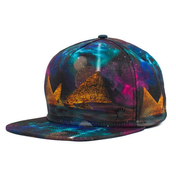 No Bad Ideas - Snapback Cap - Stargaze (Multi/Ancient Alien) - Dank Riot