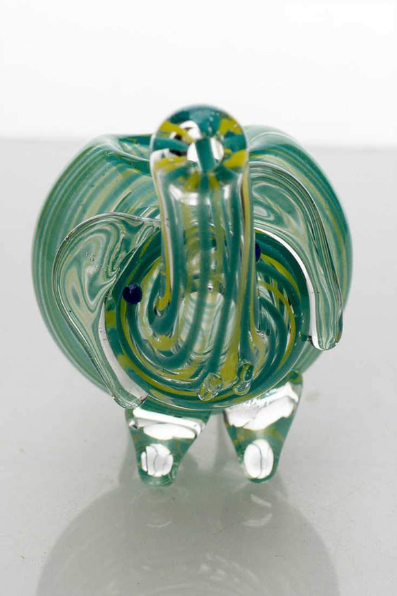 Small elephant glass hand pipe - Dank Riot