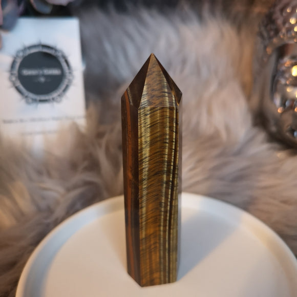 Tiger's Eye Wand Point