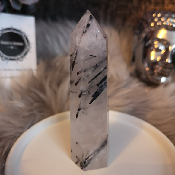 Tourmalated Quartz Wand Point