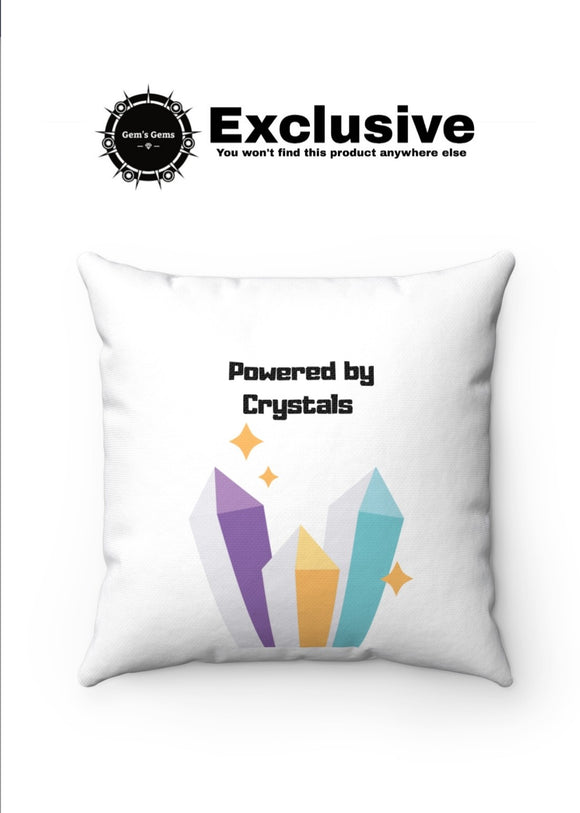 Powered by Crystals Pillow Case