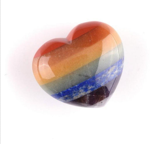 7 Chakras Heart Worry Stone