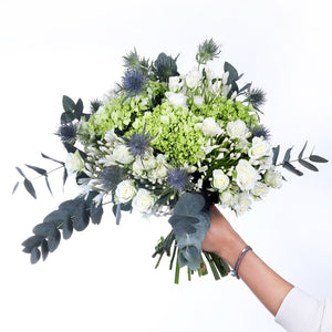 Greens and Whites Bouquet