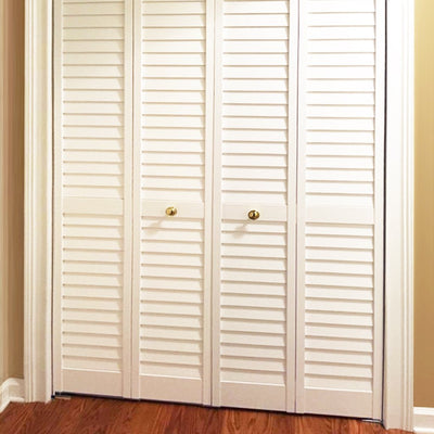 Customer Share - Plantation White Louver Louver Bi-Fold Doors