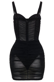 Corset mesh dress