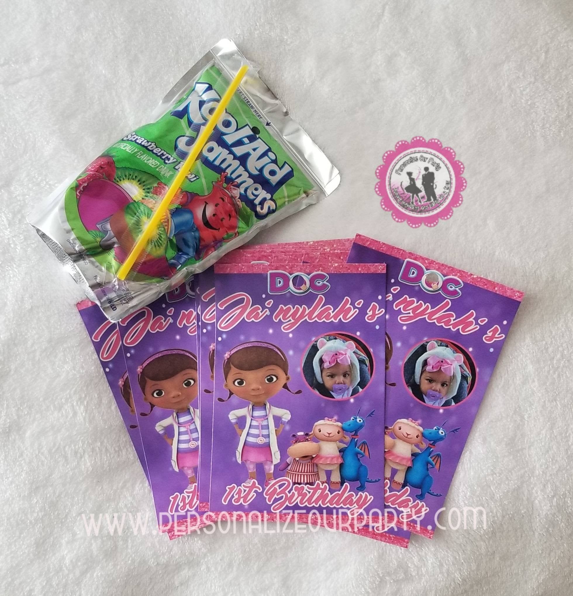 Doc Mcstuffins Inspired Party Favors Doc Mcstuffins  Inspired Party Bags