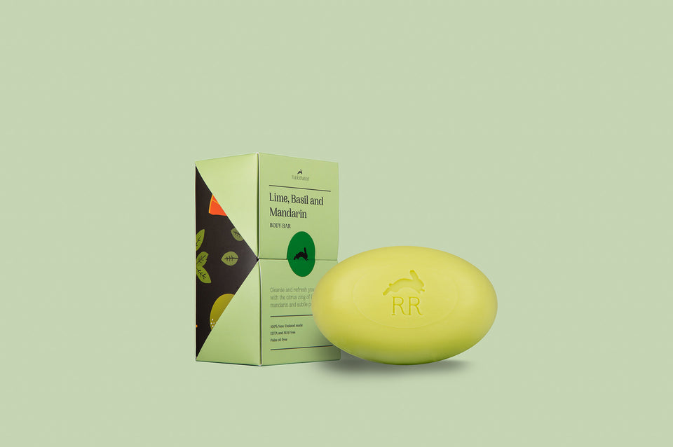 Lime, Basil and Mandarin Body Bar - RabbitRabbit NZ