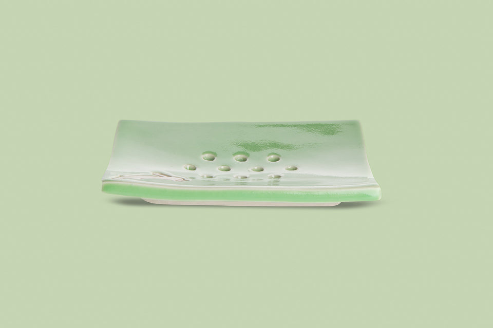 Gossamer Green Soap Dish - RabbitRabbit NZ