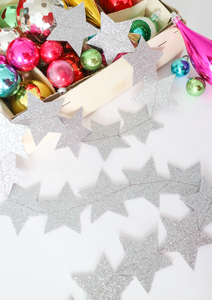 DIY Glitter Star Bunting Kit - Multiple Colours Available