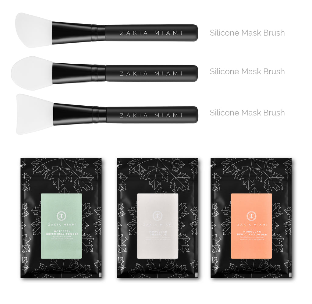 Facial Mask Brush Set (3-Piece)