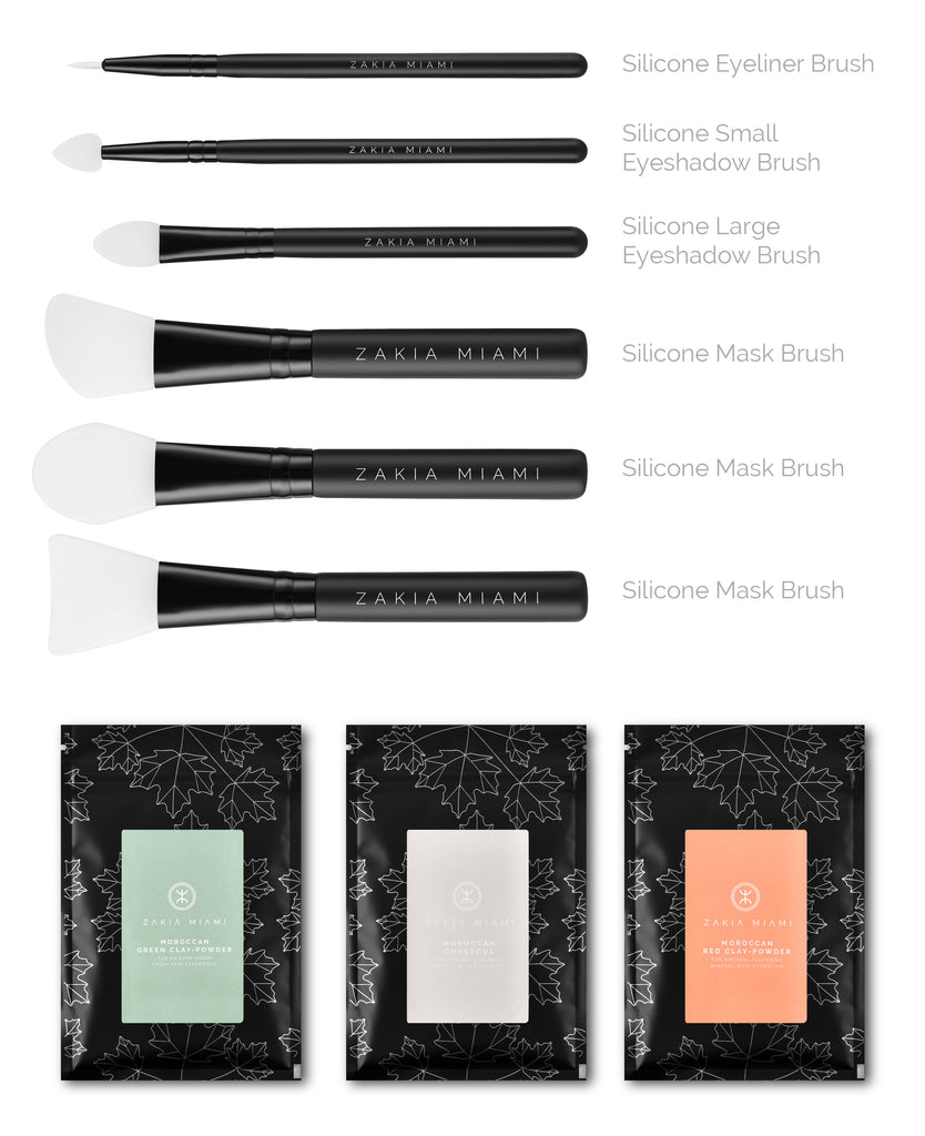 Facial Mask Brush Set (6-Piece)