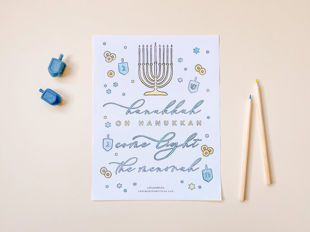 Free Hanukkah Coloring Sheet