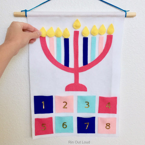 DIY felt Menorah
