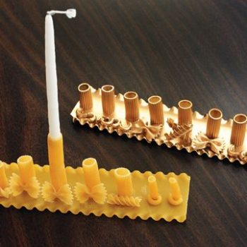DIY Pasta Menorah