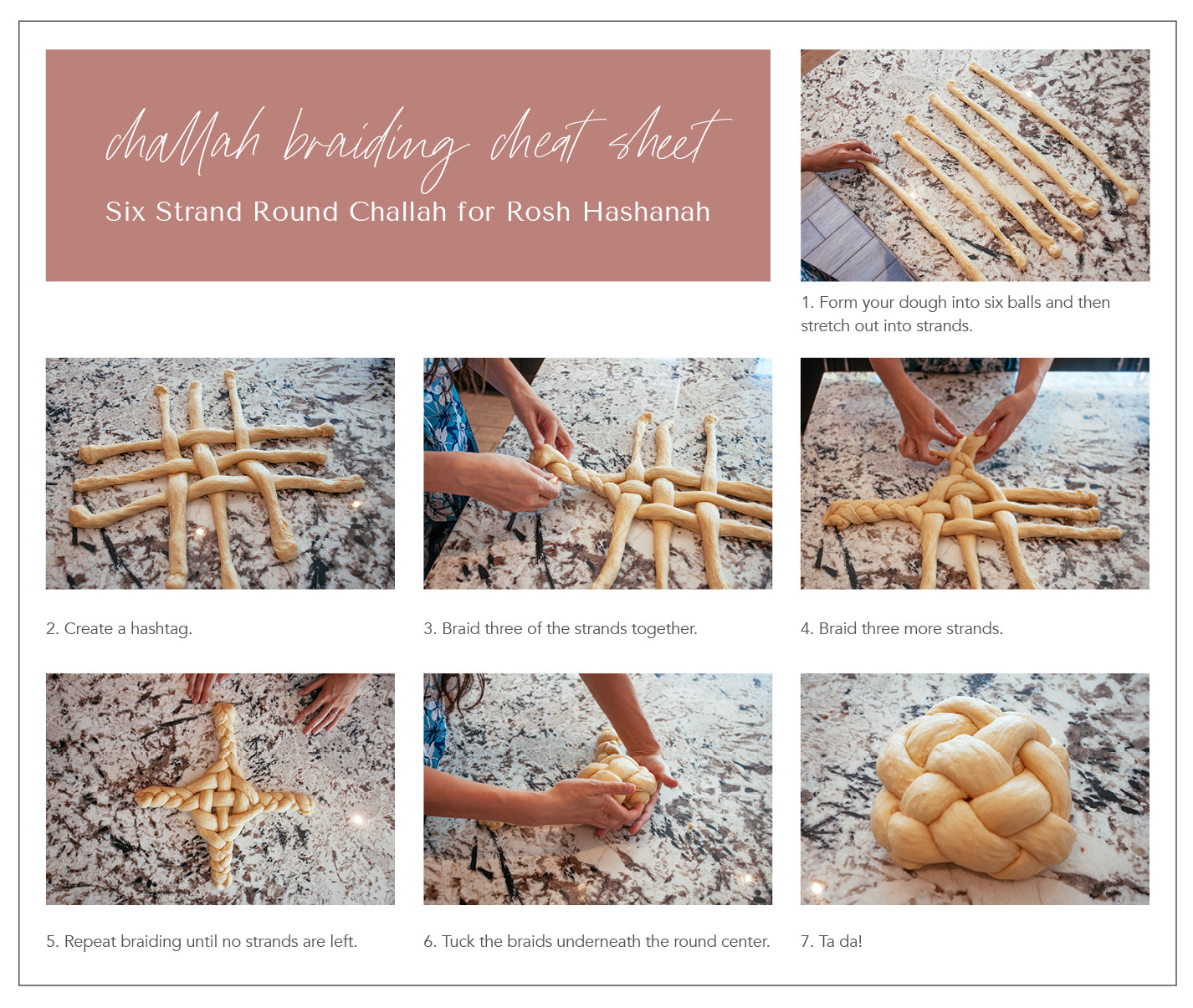 How to Braid a Round Challah