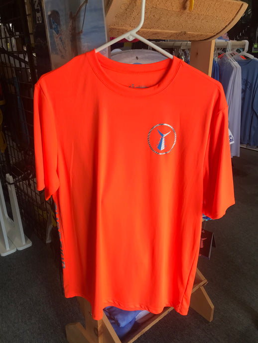 TUNASKIN Short Sleeve Orange Performance Shirt