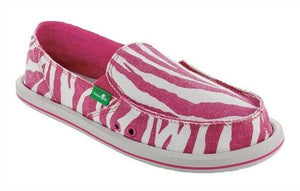 Sanuk-Women's I'm Game Slider Zebra