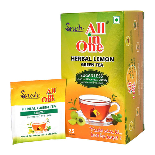 Herbal Lemon Green Tea (Stevia with 25 tea bags)