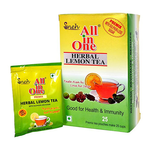 Herbal Lemon Green Tea (Sulphurless sugar with 25 sachets)