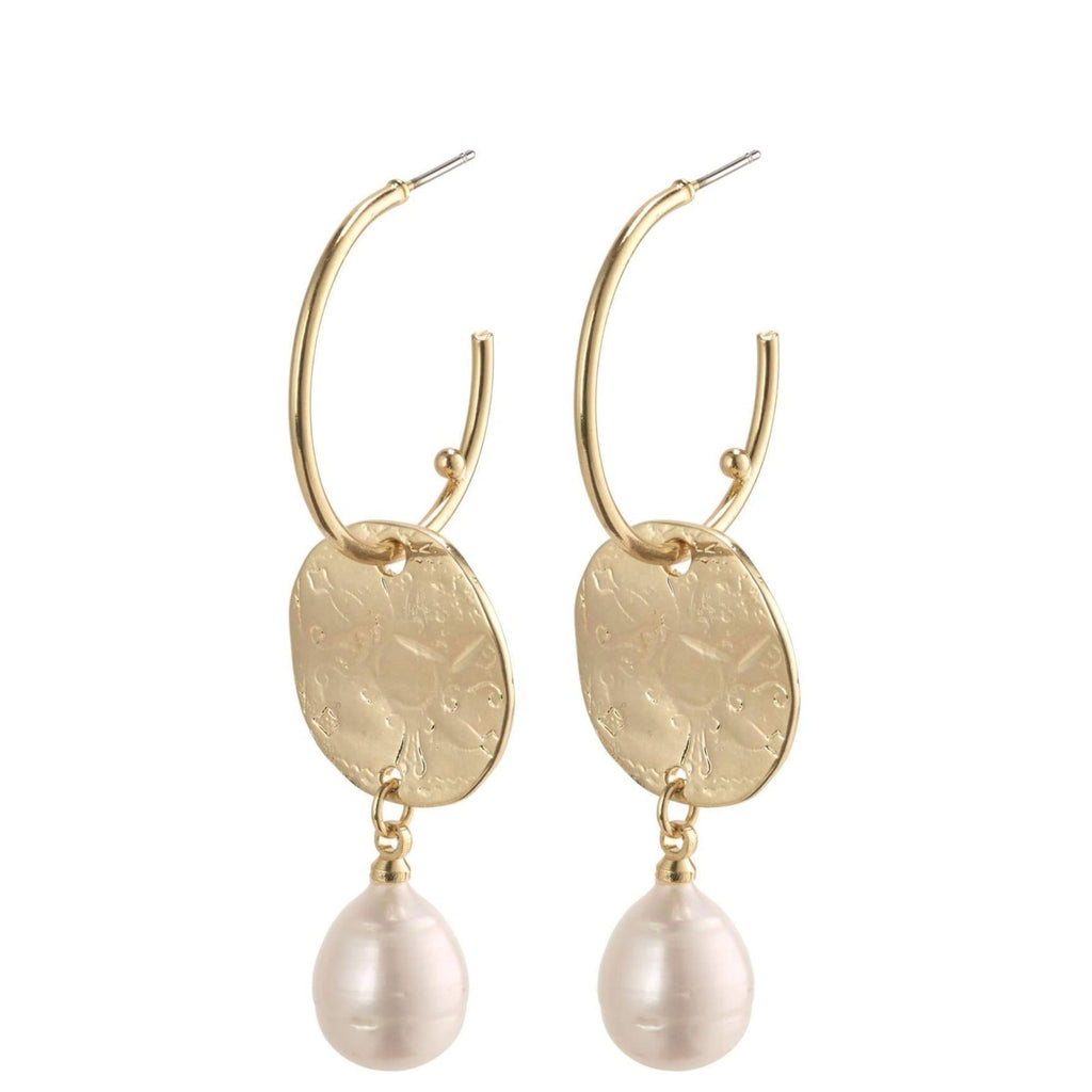 Earrings - Affection - Gold Plated - White