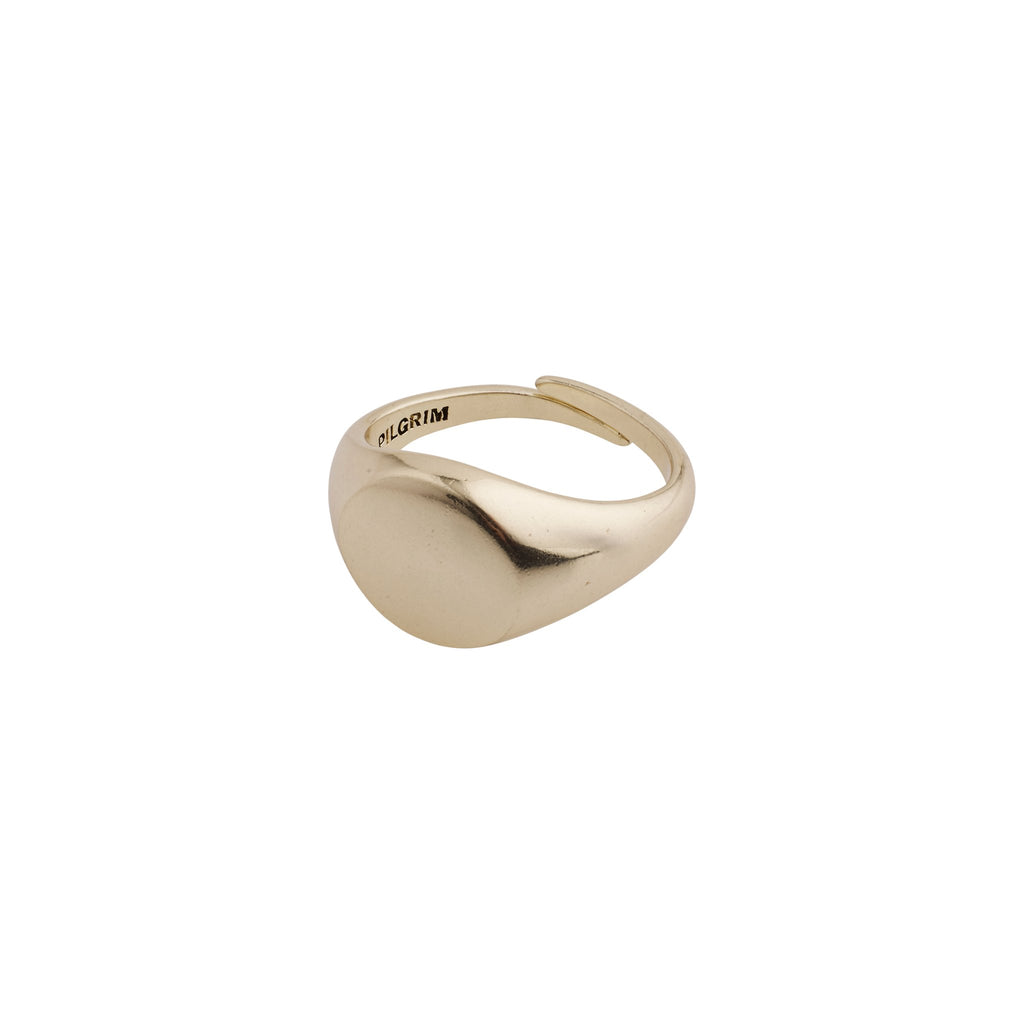 Pilgrim Ring: Abbie: Gold Plated