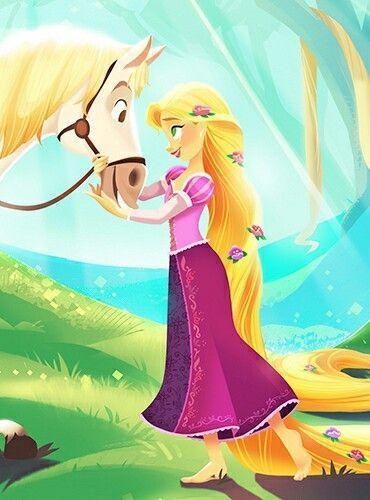 Rapunzel with her Horse Diamond Painting Kit - diamond-painting-bliss.myshopify.com