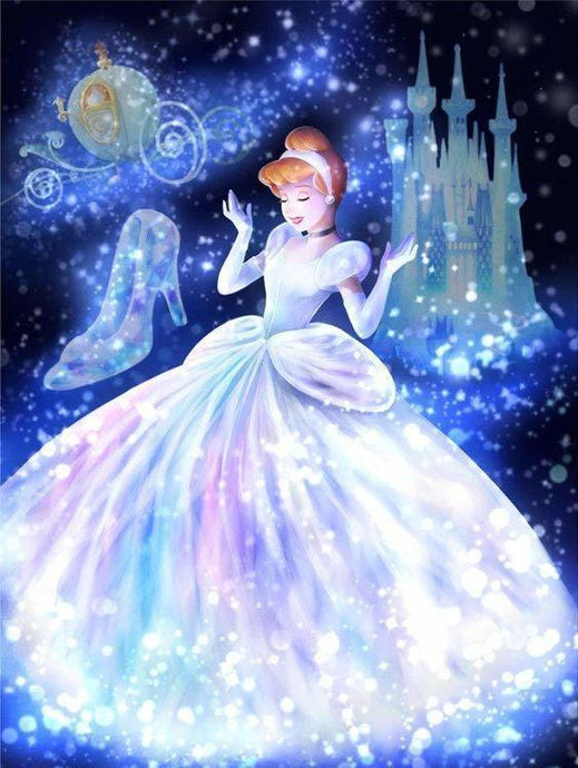 Cinderella in Gorgeous White Dress - Diamond Painting - diamond-painting-bliss.myshopify.com