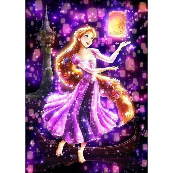 Princess Rapunzel Dancing with Lanterns - DIY Painting Kit - diamond-painting-bliss.myshopify.com