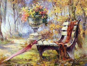 A Bench in Garden Painting Kit - diamond-painting-bliss.myshopify.com