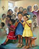 African Children Praying in Church - diamond-painting-bliss.myshopify.com