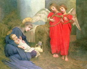 Angels Entertaining the Holy Child - diamond-painting-bliss.myshopify.com
