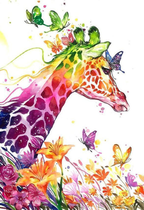 Artistic Giraffe Diamond Painting - diamond-painting-bliss.myshopify.com