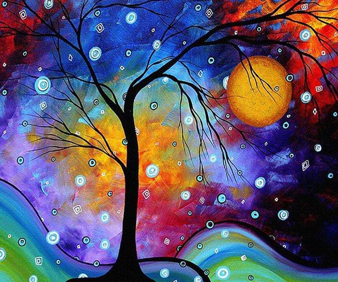 Artistic Tree DIY Painting Kit - diamond-painting-bliss.myshopify.com