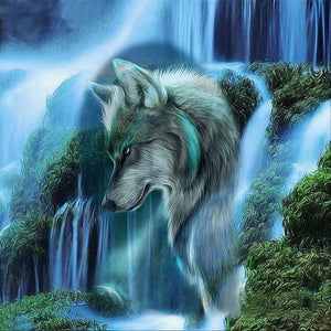 Artistic Wolf Painting - diamond-painting-bliss.myshopify.com