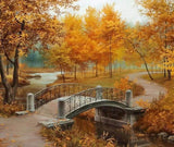 Autumn Season in A Park - diamond-painting-bliss.myshopify.com