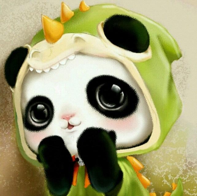 Baby Panda Cartoon Diamond Painting - diamond-painting-bliss.myshopify.com