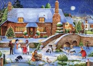 Beautiful Christmas Village - Diamond Painting Kit - diamond-painting-bliss.myshopify.com