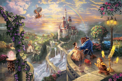 Beauty & The Beast by Thomas Kinkade - diamond-painting-bliss.myshopify.com