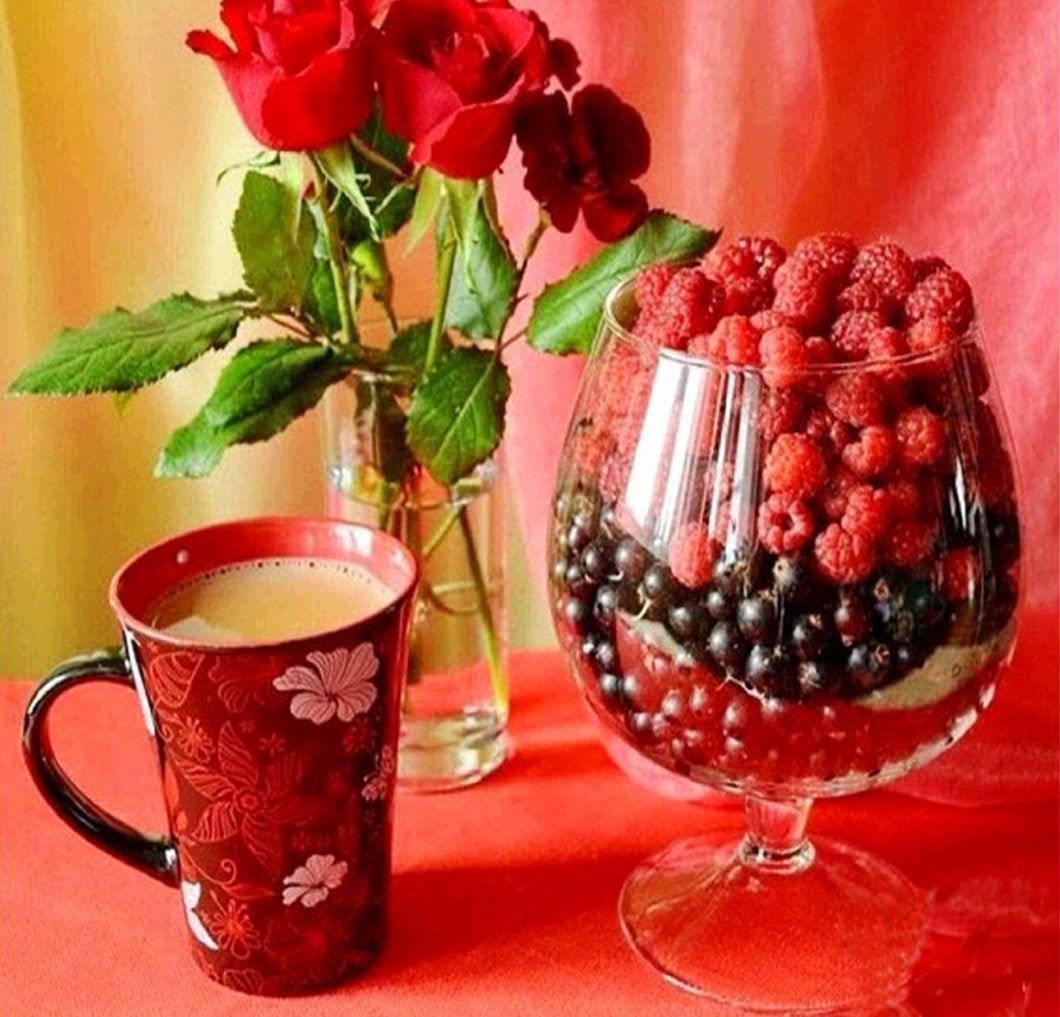 Berries & Morning Tea - diamond-painting-bliss.myshopify.com
