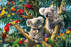Birds & Koalas on Trees - diamond-painting-bliss.myshopify.com