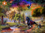Black Horse & Scenic Beauty - diamond-painting-bliss.myshopify.com