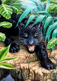 Black Leopard in the Forest - diamond-painting-bliss.myshopify.com
